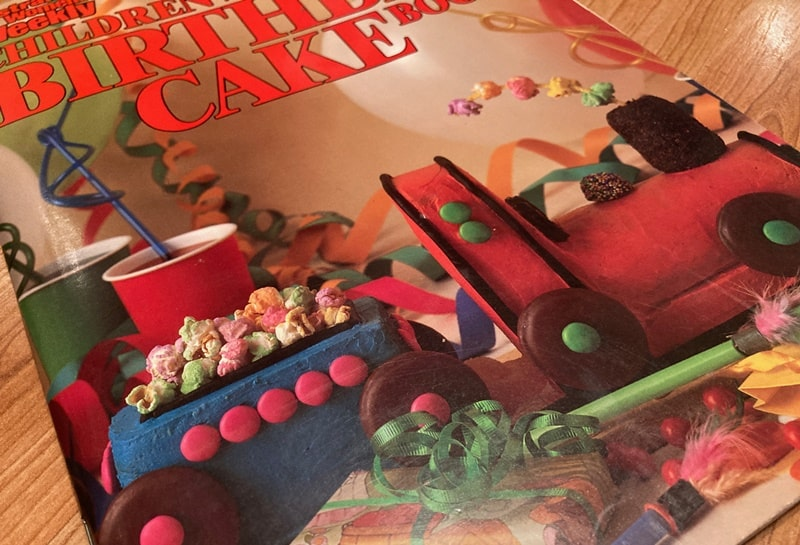 Iconic train cake from 80s recipe book