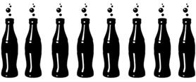 coke bottle silhouette motif