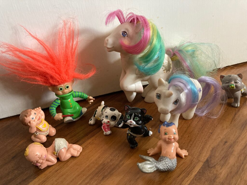 Retro toys from the 90s